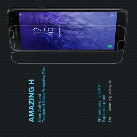 Закаленное Защитное Олеофобное NILLKIN H Прозрачное стекло на экран Samsung Galaxy J4 2018 SM-J400