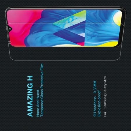 Закаленное Защитное Олеофобное NILLKIN H Прозрачное стекло на экран Samsung Galaxy M20