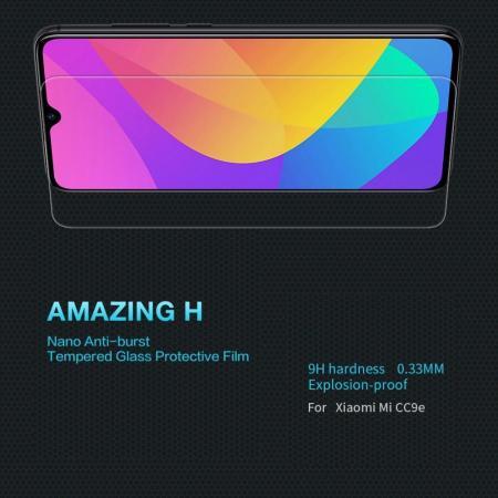 Закаленное Защитное Олеофобное NILLKIN H Прозрачное стекло на экран Xiaomi Mi A3