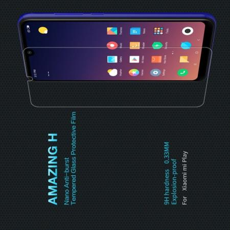 Закаленное Защитное Олеофобное NILLKIN H Прозрачное стекло на экран Xiaomi Mi Play