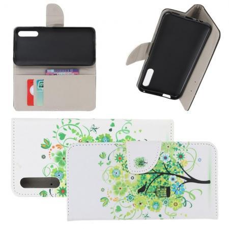 Защитный Флип Чехол для Huawei Honor 9X в Виде Книжки с Рисунком Зеленое Дерево
