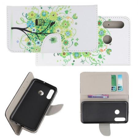 Защитный Флип Чехол для Huawei P Smart Z в Виде Книжки с Рисунком Дерево