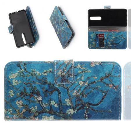 Защитный Флип Чехол для Nokia 5.1 Plus в Виде Книжки с Рисунком Сакура