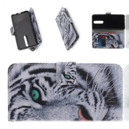 Защитный Флип Чехол для Nokia 5.1 Plus в Виде Книжки с Рисунком Тигр