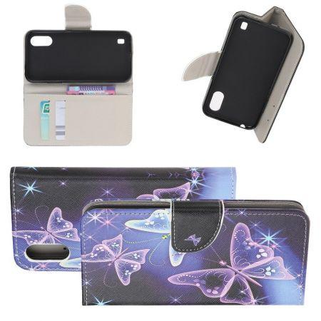 Защитный Флип Чехол для Samsung Galaxy A01 в Виде Книжки с Рисунком Бабочки