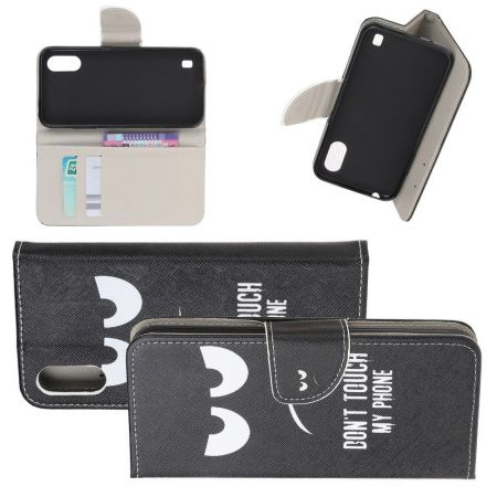 Защитный Флип Чехол для Samsung Galaxy A01 в Виде Книжки с Рисунком Touch My Phone