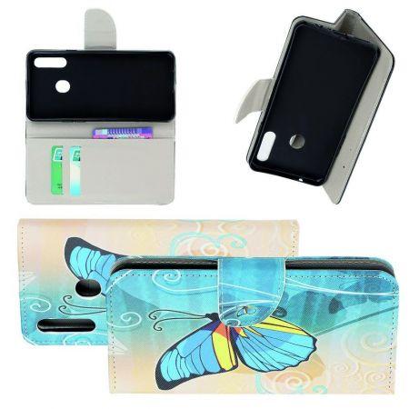 Защитный Флип Чехол для Samsung Galaxy A20s в Виде Книжки с Рисунком Бабочка