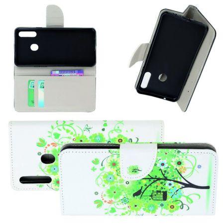 Защитный Флип Чехол для Samsung Galaxy A20s в Виде Книжки с Рисунком Дерево