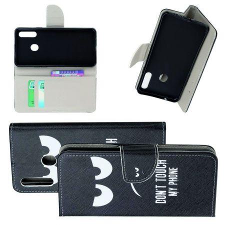 Защитный Флип Чехол для Samsung Galaxy A20s в Виде Книжки с Рисунком Touch My Phone