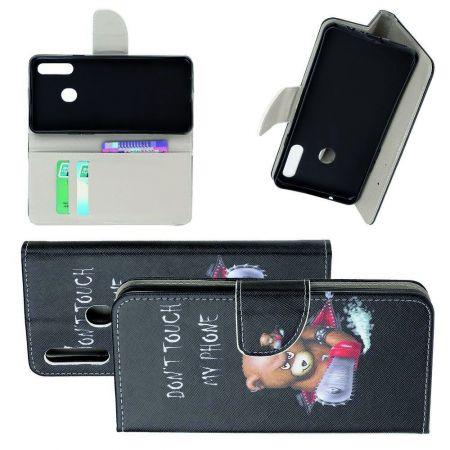 Защитный Флип Чехол для Samsung Galaxy A20s в Виде Книжки с Рисунком Злой Мишка