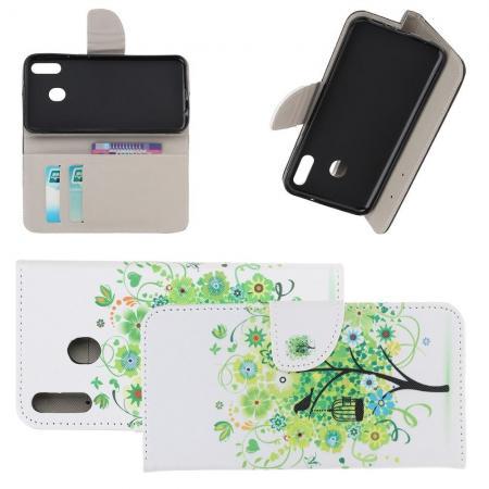 Защитный Флип Чехол для Samsung Galaxy A40 в Виде Книжки с Рисунком Дерево