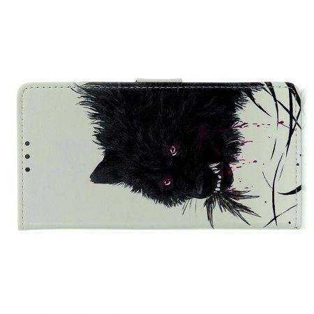 Защитный Флип Чехол для Samsung Galaxy A70s в Виде Книжки с Рисунком Черный