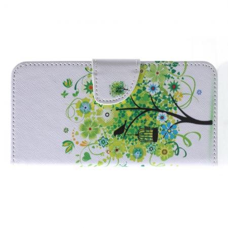 Защитный Флип Чехол для Samsung Galaxy J4 2018 SM-J400 в Виде Книжки с Рисунком Дерево