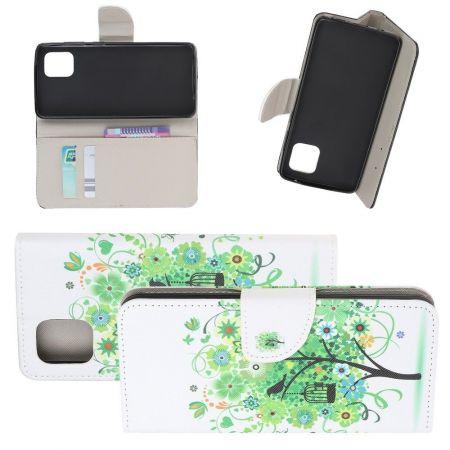 Защитный Флип Чехол для Samsung Galaxy Note 10 Lite в Виде Книжки с Рисунком Дерево