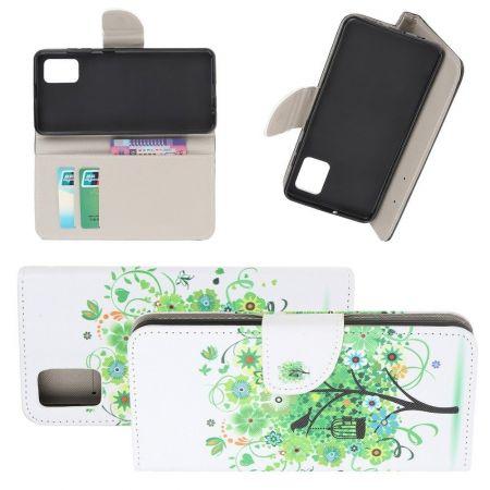 Защитный Флип Чехол для Samsung Galaxy S10 Lite в Виде Книжки с Рисунком Дерево