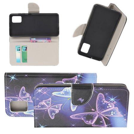 Защитный Флип Чехол для Samsung Galaxy S10 Lite в Виде Книжки с Рисунком Фиолетовый
