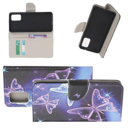 Защитный Флип Чехол для Samsung Galaxy S20 Plus в Виде Книжки с Рисунком Бабочки