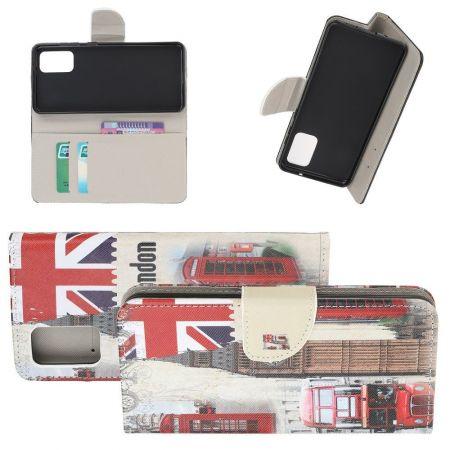 Защитный Флип Чехол для Samsung Galaxy S20 Plus в Виде Книжки с Рисунком Флаг Великобритании