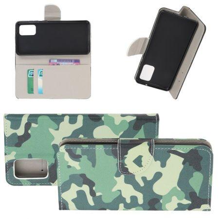 Защитный Флип Чехол для Samsung Galaxy S20 Plus в Виде Книжки с Рисунком Камуфляж