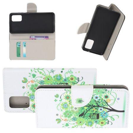 Защитный Флип Чехол для Samsung Galaxy S20 Plus в Виде Книжки с Рисунком Зеленое Дерево