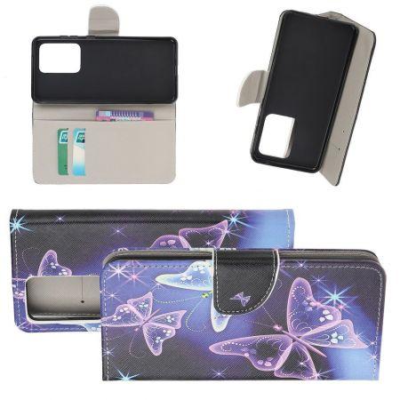 Защитный Флип Чехол для Samsung Galaxy S20 Ultra в Виде Книжки с Рисунком Бабочки