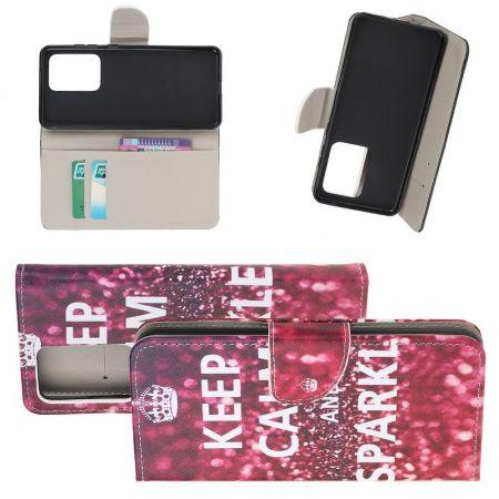 Защитный Флип Чехол для Samsung Galaxy S20 Ultra в Виде Книжки с Рисунком Keep Calm