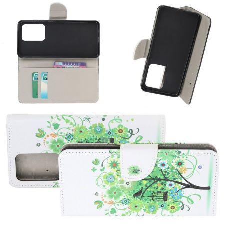 Защитный Флип Чехол для Samsung Galaxy S20 Ultra в Виде Книжки с Рисунком Зеленое Дерево