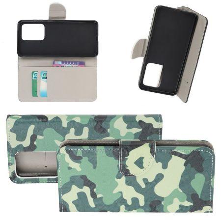Защитный Флип Чехол для Samsung Galaxy S20 Ultra в Виде Книжки с Рисунком Зеленый