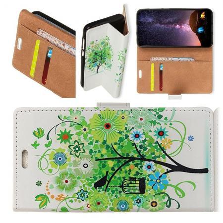 Защитный Флип Чехол для Sony Xperia XA2 Plus в Виде Книжки с Рисунком Дерево