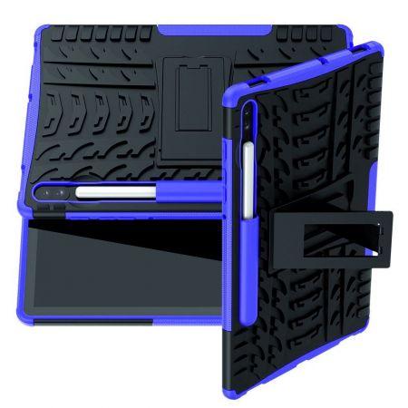 Защитный усиленный гибридный чехол противоударный с подставкой для Samsung Galaxy Tab S6 SM-T865 SM-T860 Фиолетовый
